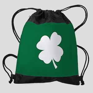 St Patricks Day Shamrock Drawstring Bag