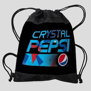 Crystal Pepsi Pattern Drawstring Bag