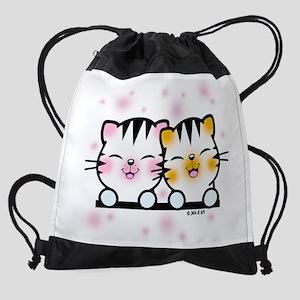 Happy Cats Drawstring Bag