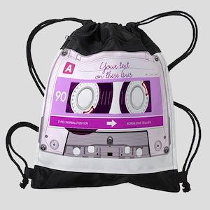 Cassette Tape RectW Drawstring Bag
