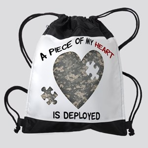 Puzzle Piece of My Heart Drawstring Bag