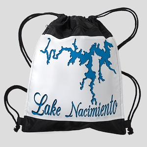 LAKE NACI w DRAGON [8 blue] Drawstring Bag