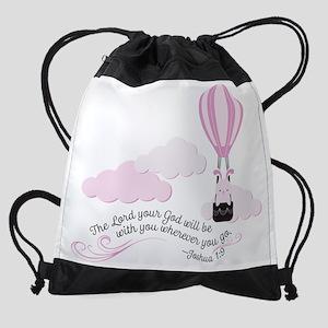 Hot Air Balloon Joshua 1:9 Drawstring Bag
