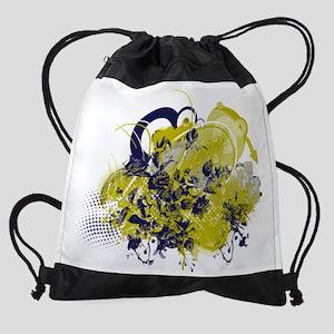 Grunge effect Drawstring Bag