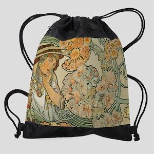 Art Nouveau Drawstring Bag