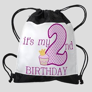 It's My 2nd Birthday Drawstring Bag