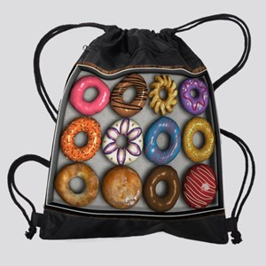Box of Doughnuts Drawstring Bag