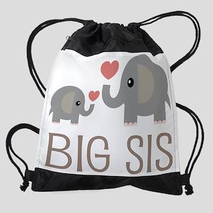 Big Sis Matching Elephant Drawstring Bag