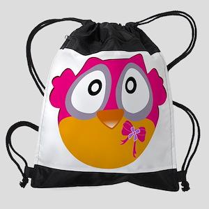 Cute Owl Drawstring Bag