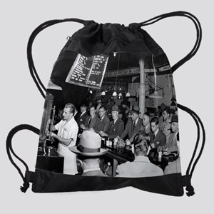 Pete's Lunch Counter, 1950 Drawstring Bag