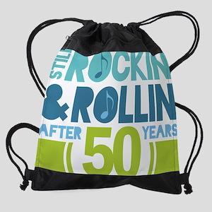 50 rocknroll Drawstring Bag