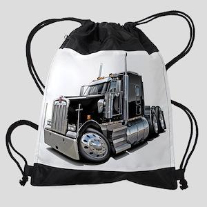 Kenworth w900 Black Truck Drawstring Bag