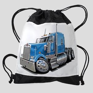 Kenworth w900 Lt Blue Truck Drawstring Bag