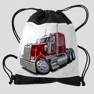 Kenworth w900 Maroon Truck Drawstring Bag