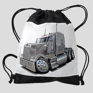 Kenworth w900 Silver Truck Drawstring Bag