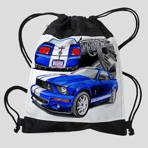 EC143 ShelbyGT500 bluwht Drawstring Bag