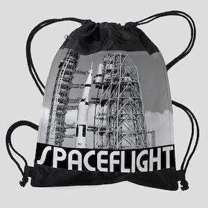 Saturn V Drawstring Bag