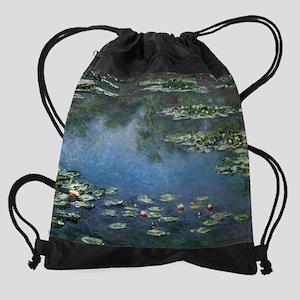 Waterlilies by Claude Monet Drawstring Bag