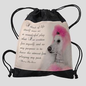 Poodle Drawstring Bag