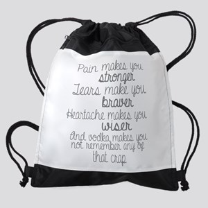 vodka humor Drawstring Bag