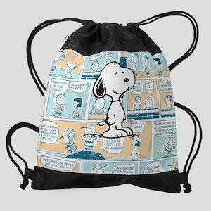 Peanuts Snoopy Comic Strip Drawstring Bag