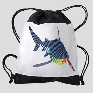 color swirl shark Drawstring Bag