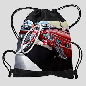 Classic car dashboard Drawstring Bag