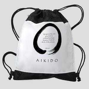 enso aikido shirt rast Drawstring Bag