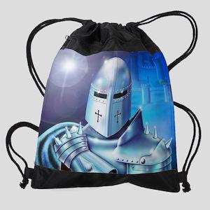 Blue Knight Drawstring Bag