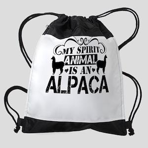 Alpaca Drawstring Bag