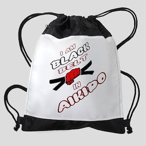 I am Black Belt in Aikido Drawstring Bag
