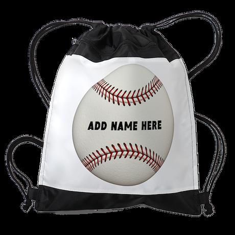Customize Baseball Name Drawstring Bag