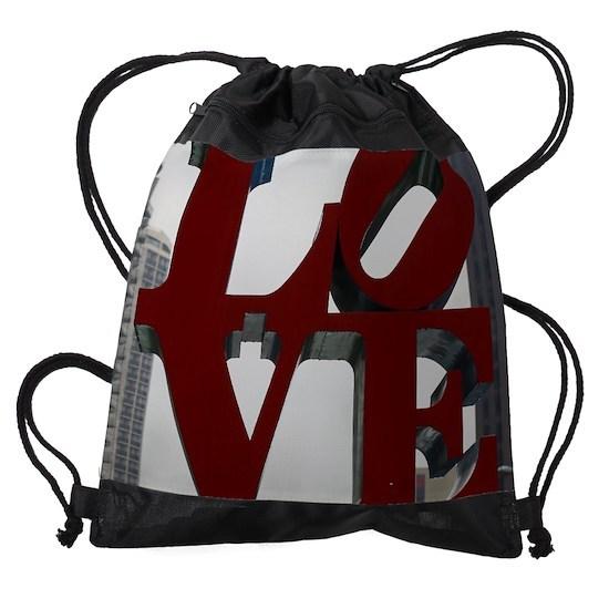 LOVE Philadelphia Drawstring Bag