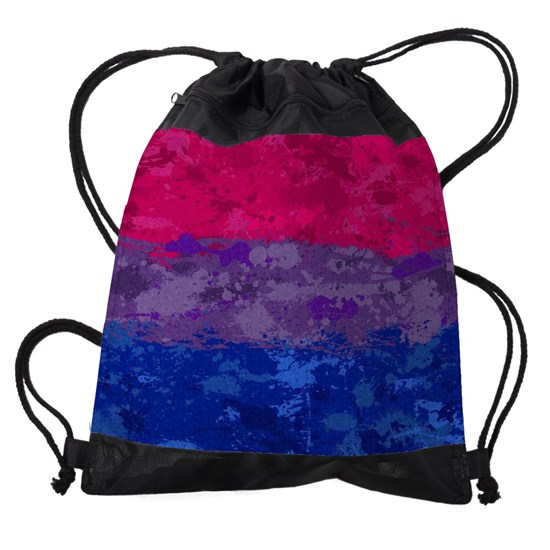 Bisexual Paint Splatter Flag