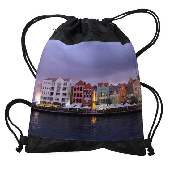 Curacao Dusk Drawstring Bag by Christine aka stine1 on Cafepress