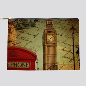 vintage London UK fashion Makeup Pouch