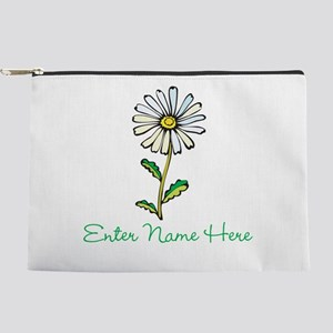 Personalized Daisy Makeup Bag