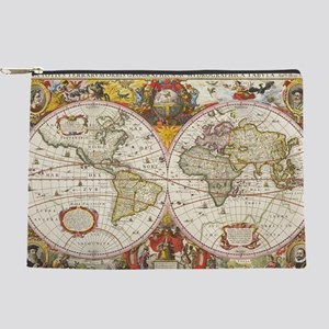 Antique World Map Makeup Pouch