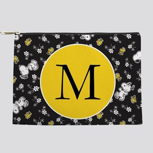 Snoopy Black and Yellow Monogram Makeup Bag