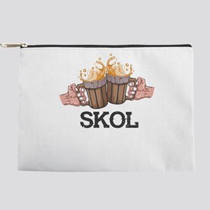 Skol Frosty Beer Mugs Vikings Cheers Makeup Bag