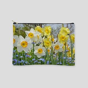 White and yellow daffodils Makeup Bag