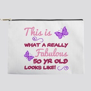 Fabulous 50th Birthday Makeup Pouch