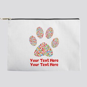 Dog Paw Print Customize Makeup Bag