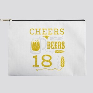 Cheers and Beers 18th Birthday Gift Ide Makeup Bag