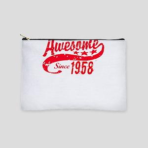 Awesome Since 1958 60 Years Old Birthda Makeup Bag
