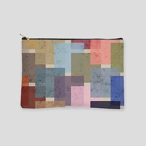 Mid Century Modern Squares Makeup Bag