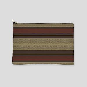 Mid Century Modern Stripes Makeup Pouch