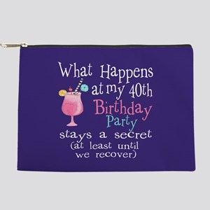 40th Birthday Party Makeup Bag