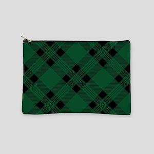 Green Plaid Pattern Makeup Pouch