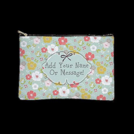 PERSONALIZED Cute Floral Joy Makeup Bag